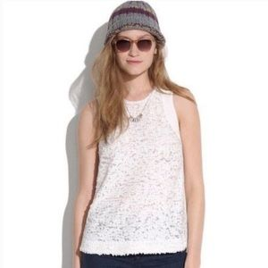 Broadway & Broome Madewell White Sequin Tank